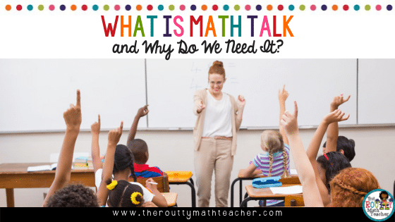 This is the blog title: What is Math Talk?