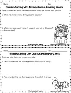 This image shows a copy of the two book-related problem solving tasks.