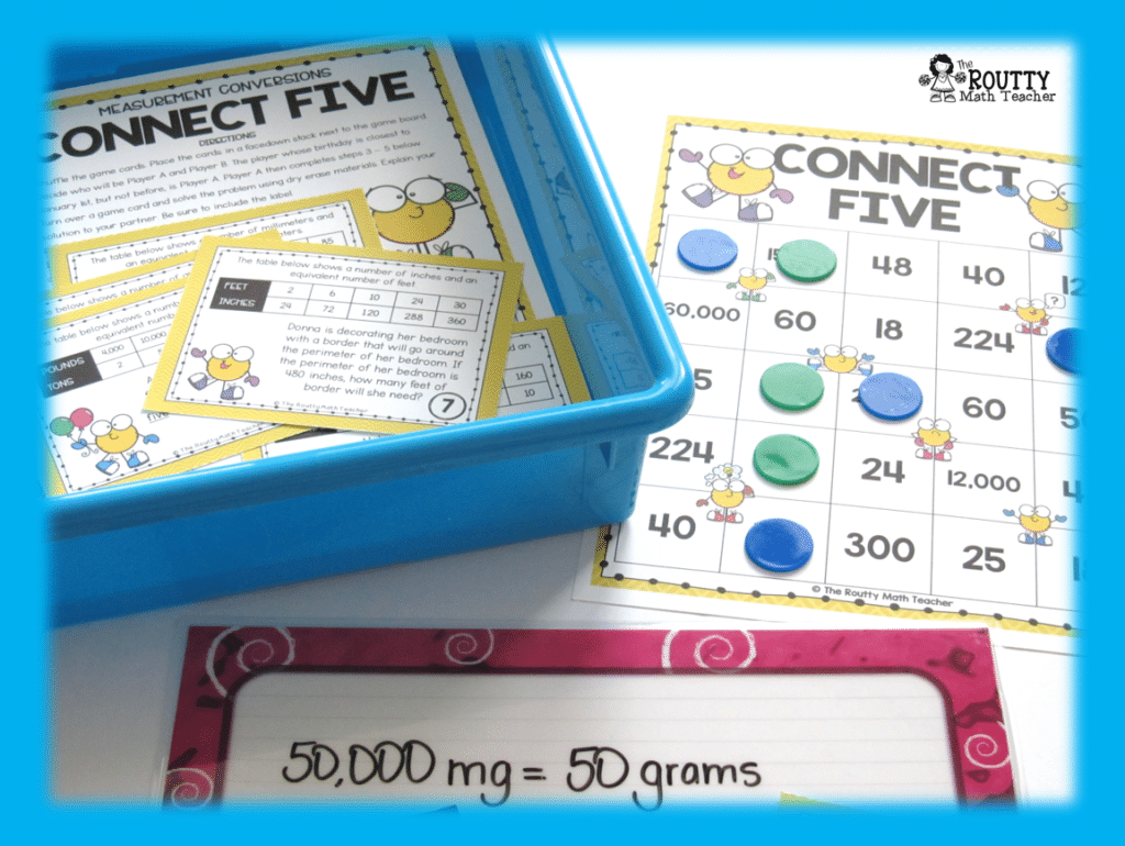 This is an example of a station game in a set of math station rotations.