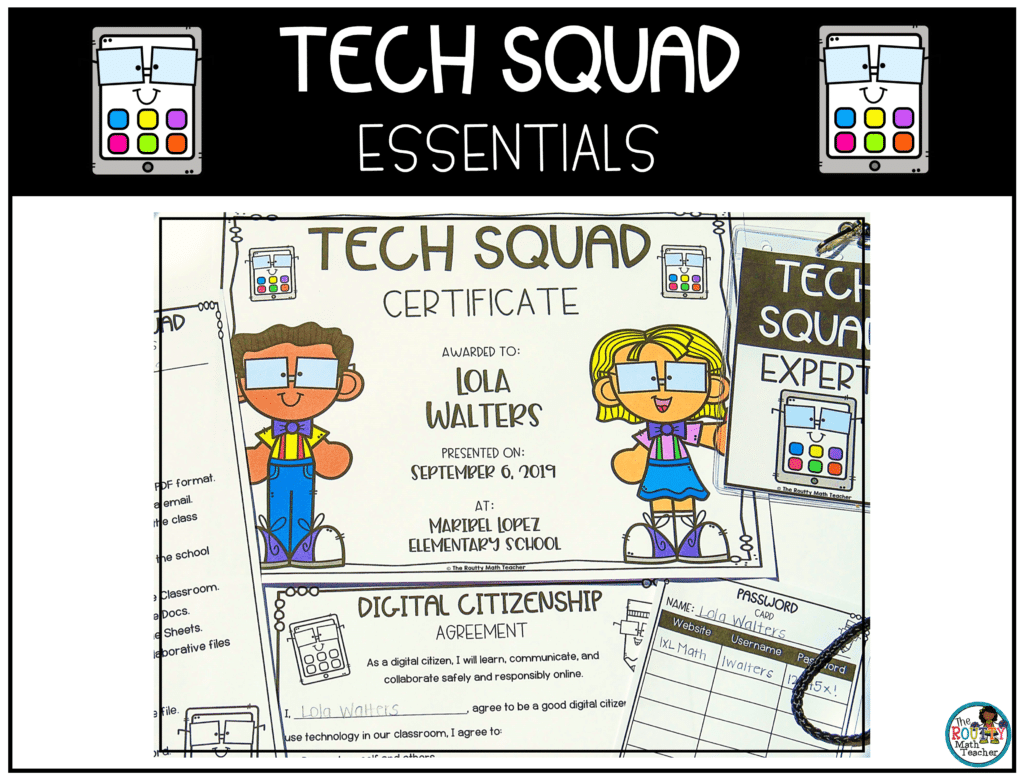 This image shows the elements of the Tech Squad essentials pack.
