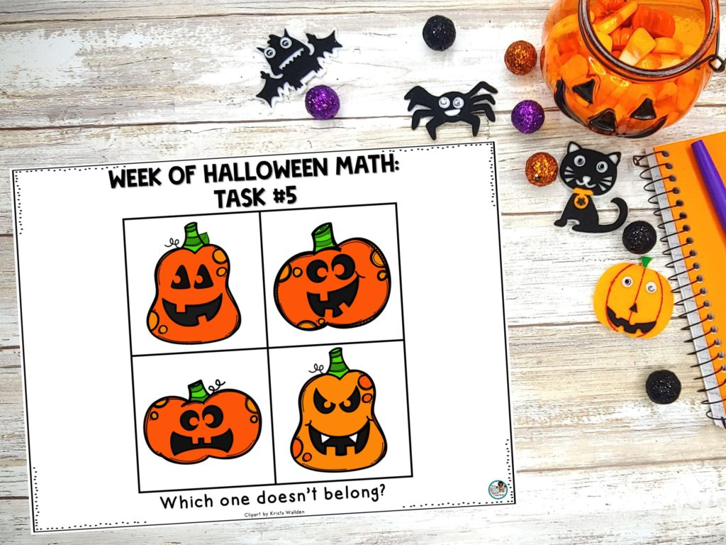 Halloween Math Task #5: Which One Doesn't Belong?