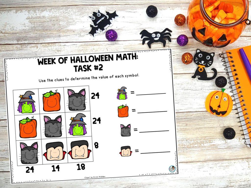Halloween Math Task #2: Logic Puzzle
