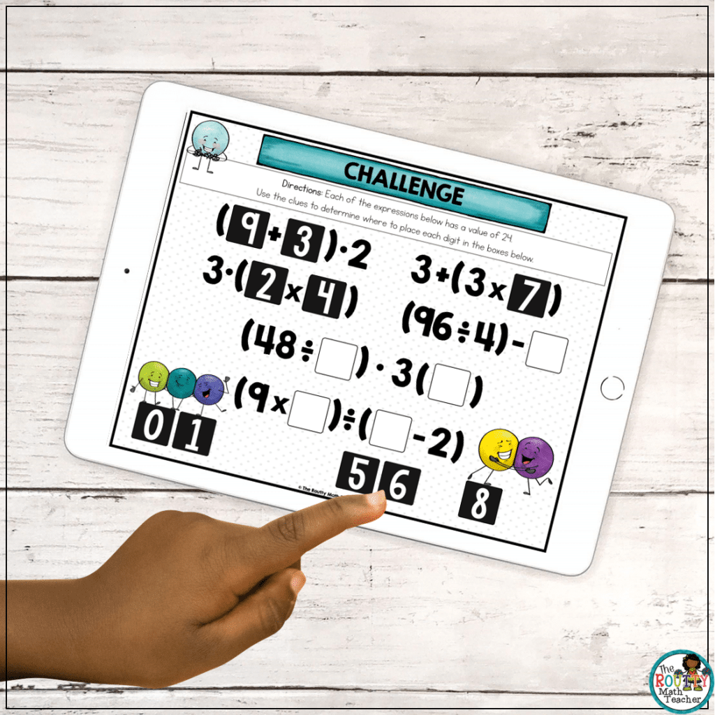 This is an example of digital task card can be used as online learning for kids.