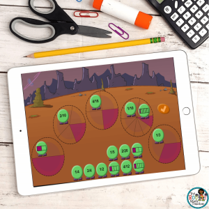 This is an example of a web game used to launch a math lesson.