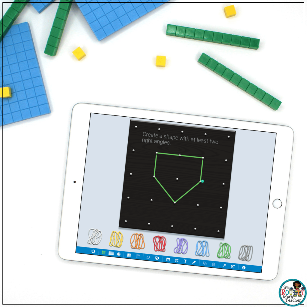 This is an example of a critical thinking task created with virtual math manipulatives.