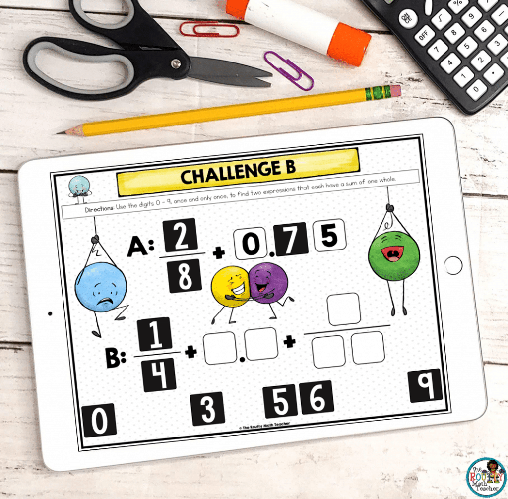 These digital math activities are engaging and challenging.