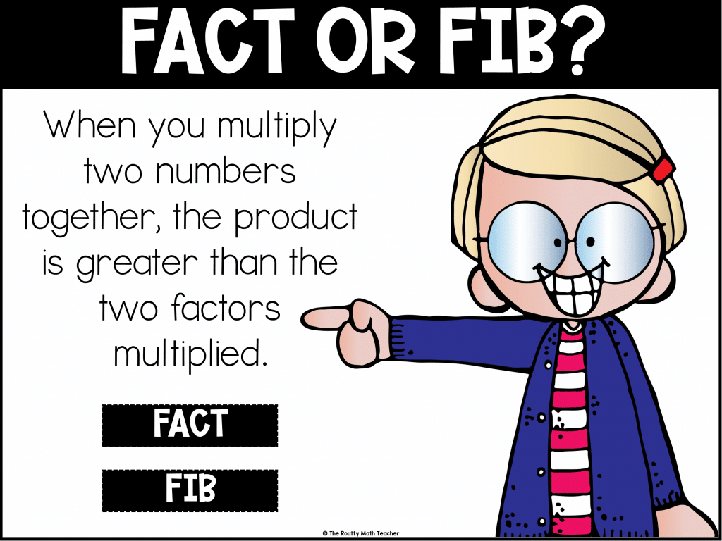 This is an example of how to use Fact or Fib as one of the daily math talk routines.