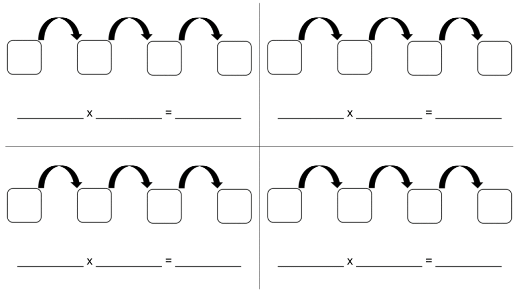 This is a graphic organizer designed to help students practice their eights.